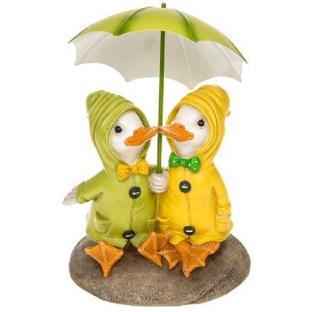 Puddle Duck Couple on a Rock
